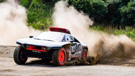 奥迪电动赛车,不用充电靠油发电,速度惊人