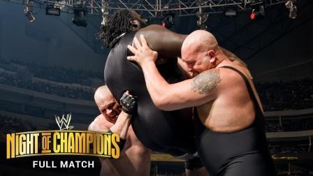 冠军之夜,凯恩和大秀哥使出双重锁喉抡,重创黑猩猩!