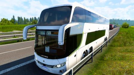 【欧洲卡车模拟2】疯狂的大巴车
