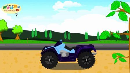 少儿卡通动画 组装怪物摩托车 摩托车越障碍 益智玩具