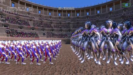史诗战争模拟器:一百名雷杰多奥特曼VS一百名迪迦奥特曼