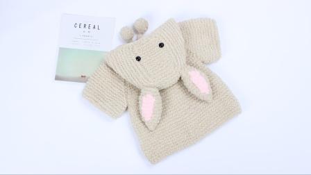 娟娟编织 好看的大兔子休闲外套赶紧学起来 马上就要穿了