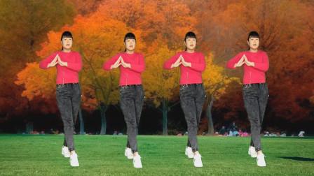 广场舞《秋风带走我的爱》节奏悦耳动听,舞步简单,欢快好看