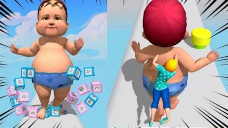 趣味小游戏:我的天呀,宝宝你喝的是什么奶粉呀,突然长这么大!