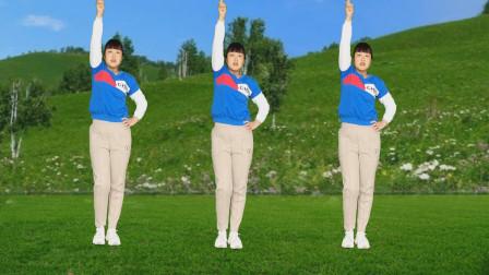 陕北民歌健身操《梦中的兰花花》旋律悦耳动听,动作简单易学