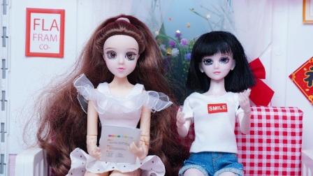 文茜和王默开学前熬夜补作业