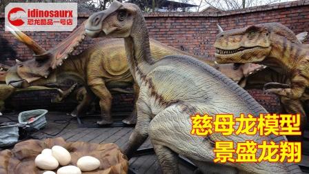 仿制的慈母龙模型 - 实际尺寸仿真恐龙