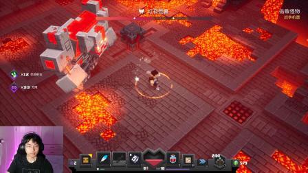 我的世界:大战更厉害的BOSS红石巨兽,使用连弩多重射击