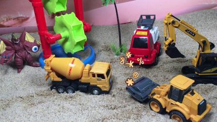 工程车故事:怪兽破坏蚂蚁王国的形象,是谁阻止了他