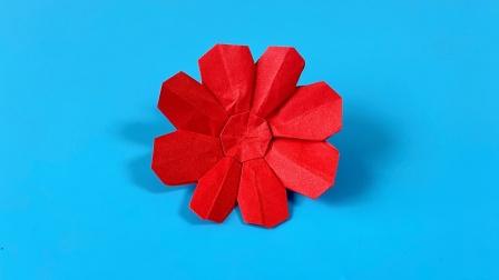 教你折纸八瓣花,简单易学,折纸王子儿童折纸教程