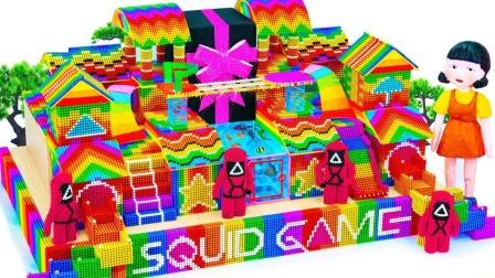 使用磁球制作彩色游戏场