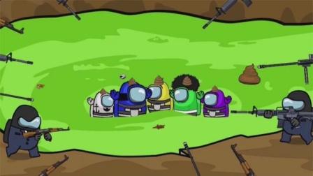 太空狼人杀:小黑警察上厕所,逃过一劫,却发现小白和小黄越狱了
