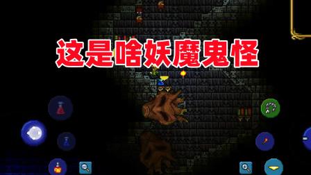 泰拉瑞亚手游:找到一座黑色城堡,在里面被未知生物击杀!