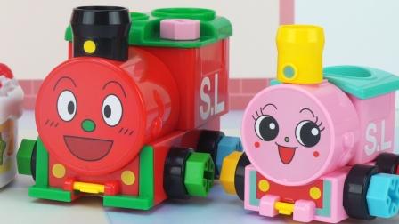 面包超人组装制作小火车