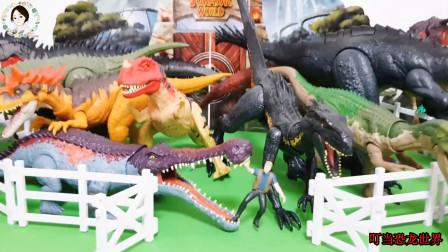 侏罗纪恐龙世界,大恐龙进入栅栏里面