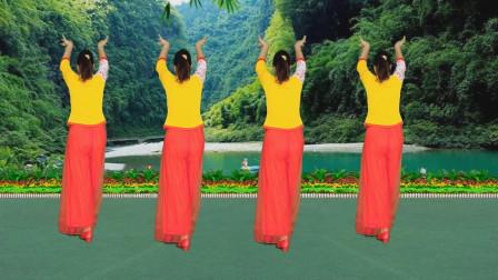 广场舞《寻遍千山只为你》歌声悠扬抒情,舞步优美简单好看