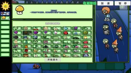植物大战僵尸美丽小镇:夜幕降临,毁灭菇炸了没有坑!