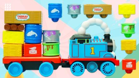 托马斯小火车玩具:托马斯摇摆叠叠乐的运输故事