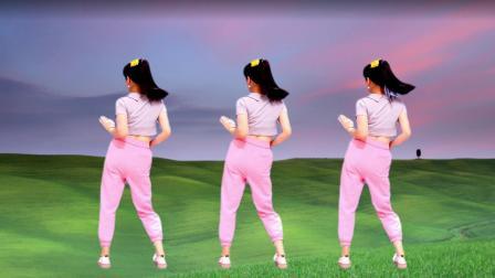 背面广场舞《何必西天万里遥》最后有慢动作 简单易学