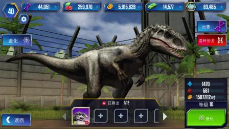 侏罗纪世界:10级狂爆龙VS20级异齿食肉盗龙,谁会获胜呢?