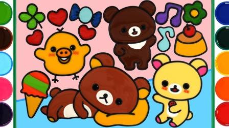 泰迪熊果冻绘画着色,令人满意的DIY果冻礼品创意,你喜欢吗?