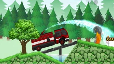 全能老司机儿童游戏,消防车扑灭所有火焰
