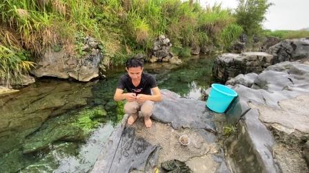 钓鱼人的天堂,温泉洞穴里全是60块一斤极品河鱼,以后天天来