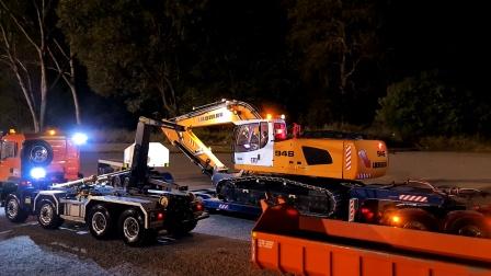 遥控工程车, 平板卡车运输大号装载车,自卸车和挖掘机搬运
