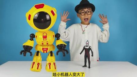 糖果枪能弹出甜甜的棒棒糖,合金机器人会感应说话,新玩具很好玩