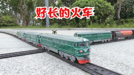 长列轨道模拟十:三款罐体车厢混挂成好长火车货运列车