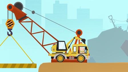 动物汽车大冒险,驾驶一辆工程挖掘车来冒险