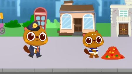 兔小萌猫警长儿童游戏,猫警长抓住了罪犯
