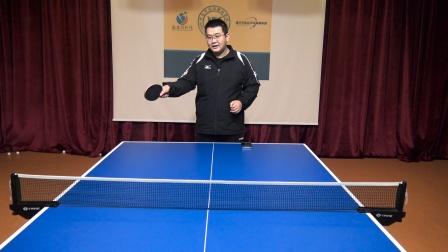 乒乓球正手生胶攻下旋球,记住口诀要领,提高生胶攻下旋命中率!