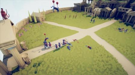 全面战争模拟器:对手是罗马士兵,派一个人在高处吸引火力