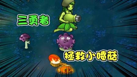 植物大战僵尸:不好!僵尸要用小喷菇做小鸡炖蘑菇