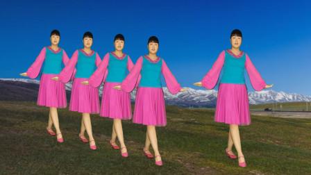广场舞《一路走来不容易》情歌对唱,舞步优美简单好看