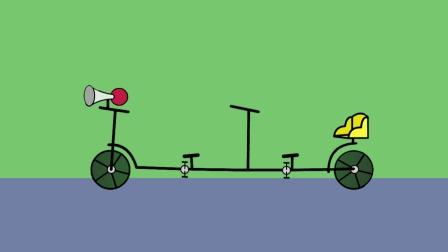 小猪佩奇之自行车,可以双人骑的哦,很酷