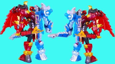 钶龙战记拼装版冰炎龙勇士模式玩具