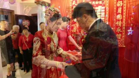 因为有爱我们结婚了,祝你们新婚快乐!