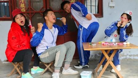 小伙伴们玩过家家,小燕子医生用滴答糖治好刘星的大肚子,真好玩