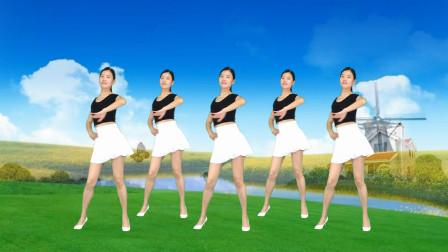 广场舞《爱你到天荒地老》简单32步网络情歌健身操!