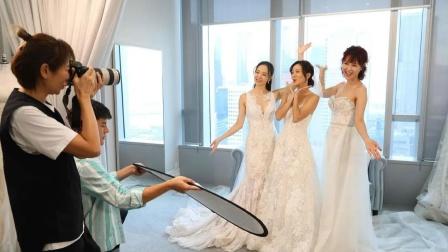 为圆朋友的婚纱梦 男闺蜜直接为她做了一套