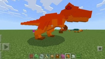 我的世界里玩方舟生存进化,滑稽恐龙们都能驯服