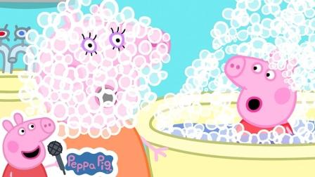 小猪佩奇玩具故事:佩奇和乔治带着一大堆的气球准备去做什么游戏