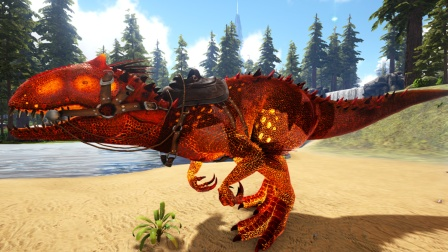 方舟生存进化:火山岛 38 庞大又凶猛的恶魔暴虐龙