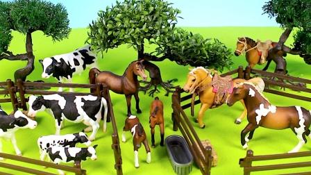 动物世界启蒙故事:动物园里今天来了多少只奶牛?你数对了吗?