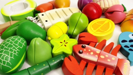 幼儿早教游戏 一起来玩水果切切乐益智玩具