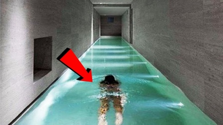 最危险的泳池,一个在天上,一个在地下,敢在这里游的都是勇士!