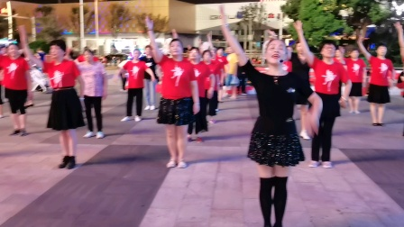〈66)广场舞巜万疆》万达广场。徐淡吟老师🌹🌴💄💐