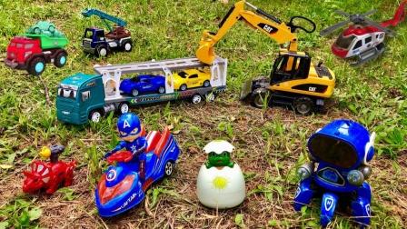 挖掘机、火车、救护车、工程车怎么会在地上呢?